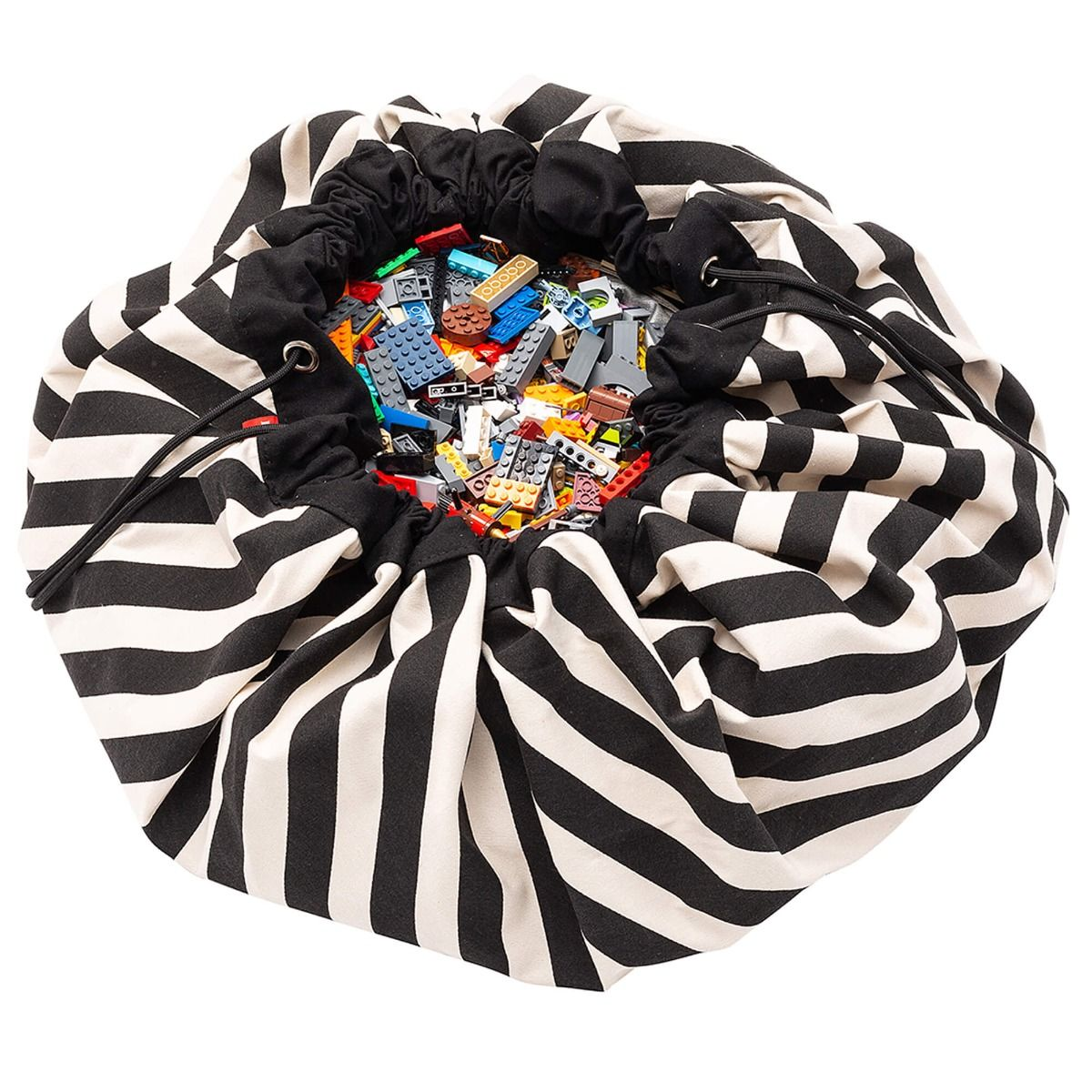 Play&Go Opbergzak/Speelkleed - 140 cm. - Stripes Black